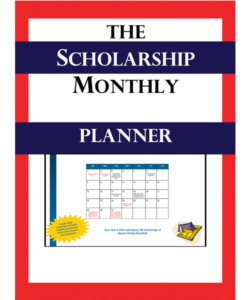 Scholarship Monthly Planner